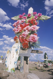 A Cemetery on an Indian Reservation in Santa Clara New Mexico Photographic Print
