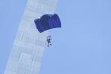 Parachutist over Arch, St. Louis, Missouri Photographic Print