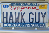 "California License Plate Reads ""Hawk Guy"" Photographic Print"