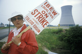 Striker with Placard at Davis-Besse Nuclear Power Station, Oh Photographic Print