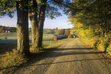 A Dirt Road Leading to Jenne Farm in Vermont Photographic Print