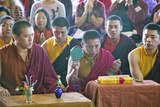 Tibetan Monks with Cymbals at Amitabha Empowerment Buddhist Ceremony, Meditation Mount in Ojai, CA Photographic Print