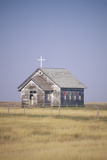 Abandoned Prairie Church in Wyoming Photographic Print