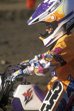 Close-Up of a Motocross Racer at the Off Road Races at the Rose Bowl in Pasadena, California Photographic Print