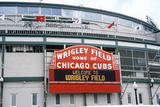 Entrance to Wrigley Field, Home of the Chicago Cubs, Chicago, Illinois Photographic Print