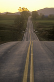 A Road That Goes from Adirondack Vermont to New York During Sunset Photographic Print
