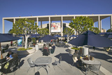Outdoor Café at the Dorothy Chandler Pavilion, Downtown Los Angeles, California Photographic Print