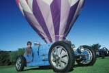 A Blue Bugatti CAr at the 35th Annual Concours D' Elegance Competition in CArmel, CA Photographic Print