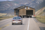 Moving a House Along Route 89 in Utah Photographic Print