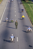 Wheelchair Athletes Participating in the 17th Marine Marathon, Washington D.C. Photographic Print