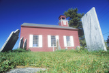 Red Church and Cemetery Built in 1752 in the Hudson River Valley in New York Photographic Print