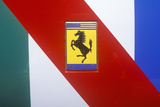 A Ferrari Sports Car Logo in Beverly Hills, California Photographic Print