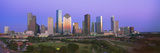 Houston Skyline, Memorial Park, Dusk, Texas Photographic Print
