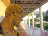 Sunset on the Main Peristyle Garden of the J. Paul Getty Museum, Los Angeles, California Photographic Print