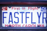 Vanity License Plate - North Carolina Photographic Print