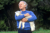 Farmer and Lamb, New Zealand Photographic Print