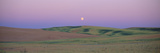 Moonrise over Pea Fields, the Palouse, Washington State Photographic Print