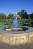 Fountain in Rose Garden with Gazebo, Boise, ID Photographic Print
