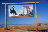 Welcome to Wyoming Sign Photographic Print