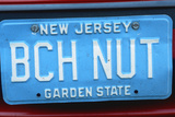 Vanity License Plate - New Jersey Photographic Print