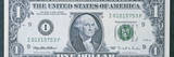 This Is the Front of a One Dollar Bill Showing the Portrait of George Washington in the Center Photographic Print
