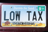 Vanity License Plate - North Dakota Photographic Print