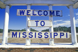 Welcome to Mississippi Sign Photographic Print