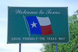 Welcome to Texas Sign Photographic Print