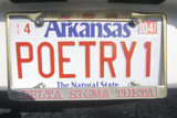 Vanity License Plate - Arkansas Photographic Print