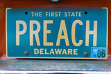 Vanity License Plate - Delaware Photographic Print