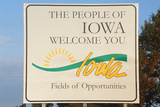 Welcome to Iowa Sign Photographic Print