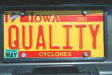 Vanity License Plate - Iowa Photographic Print