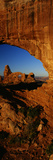 Turret Arch Through North Window, Arches National Park, Utah Photographic Print