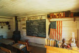 This Is the Interior of a One Room School House Photographic Print