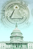 Digital Composite: U.S. Capitol with Money Photographic Print