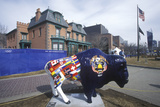 Painted Bison, Community Art Project, Winter Olympics, State Capitol, Salt Lake City, Ut Photographic Print