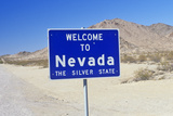 Welcome to Nevada Sign Photographic Print