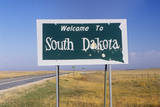 Welcome to South Dakota Sign Photographic Print