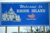 Welcome to Rhode Island Sign Photographic Print