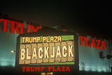 Trump Plaza Neon Sign in Front of Casino in Atlantic City, NJ Photographic Print