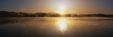 This Is Sunset on Lake Placid. There Is a Mist over the Lake Photographic Print