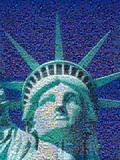 Digital Mosaic of Small Images Comprising Statue of Liberty Photographic Print