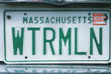 Vanity License Plate - Massachusetts Photographic Print