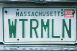 Vanity License Plate - Massachusetts Photographic Print
