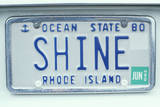 Vanity License Plate - Rhode Island Photographic Print