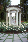 Gazebo with Statuary, Huntington Library and Gardens, Pasadena, CA Photographic Print
