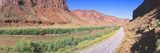 Route 128, Colorado River, View of a Butte Photographic Print