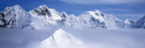 Mountains and Glaciers in Wrangell-St Elias National Part  Alaska