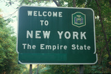 Welcome to New York Sign Photographic Print