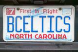Vanity License Plate - North Carolina Photographic Print